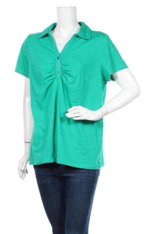 Γυναικείο t-shirt George, Μέγεθος XL, Χρώμα Πράσινο, 95% βαμβάκι, 5% ελαστάνη, Τιμή 8,64€