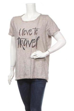 Γυναικείο t-shirt Gina Benotti, Μέγεθος XL, Χρώμα  Μπέζ, Βαμβάκι, Τιμή 11,69€