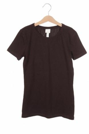 Дамска тениска H&M, Размер XS, Цвят Кафяв, 95% памук, 5% еластан, Цена 21,70лв.