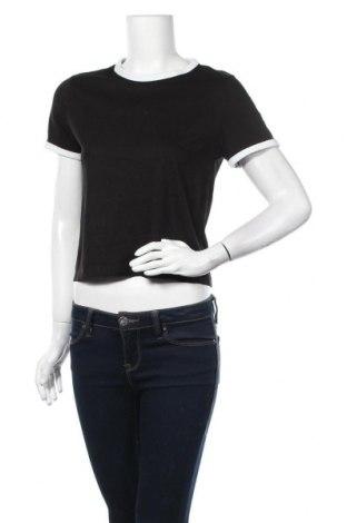 Дамска тениска H&M Divided, Размер L, Цвят Черен, 60% памук, 40% полиестер, Цена 13,97лв.