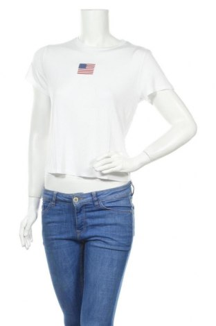 Дамска тениска H&M Divided, Размер M, Цвят Бял, Вискоза, Цена 15,84лв.
