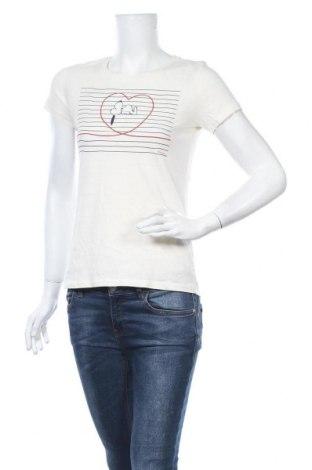 Γυναικείο t-shirt H&M L.O.G.G., Μέγεθος XS, Χρώμα Εκρού, Βαμβάκι, Τιμή 8,18€