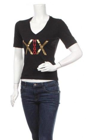 Γυναικείο t-shirt Hugo Boss, Μέγεθος S, Χρώμα Μαύρο, 67% μοντάλ, 33% βαμβάκι, Τιμή 36,37€