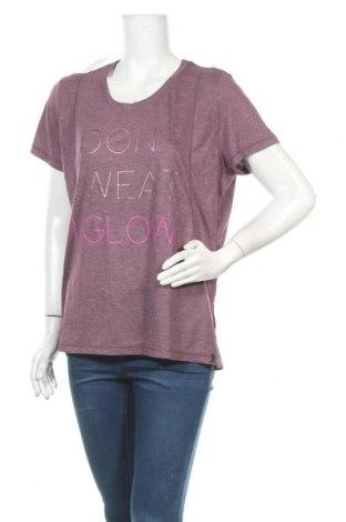 Γυναικείο t-shirt Hyba, Μέγεθος XXL, Χρώμα Βιολετί, 63% πολυεστέρας, 35% βισκόζη, Τιμή 8,64€