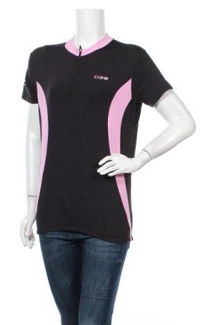 Дамска тениска IXS, Размер XL, Цвят Черен, 91% полиамид, 9% еластан, Цена 11,55лв.