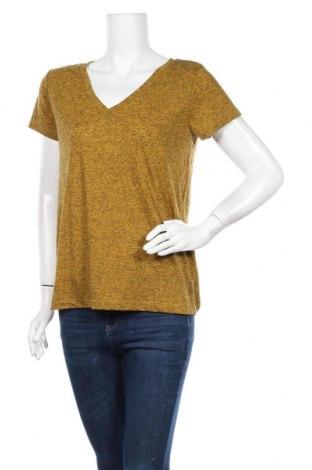 Γυναικείο t-shirt Jacqueline De Yong, Μέγεθος M, Χρώμα Κίτρινο, 85% πολυεστέρας, 15% λινό, Τιμή 7,17€