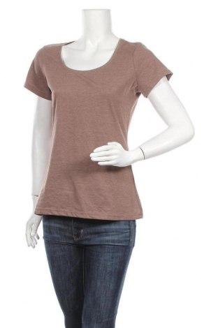 Γυναικείο t-shirt Janina, Μέγεθος M, Χρώμα Καφέ, 50% βαμβάκι, 50% πολυεστέρας, Τιμή 8,64€