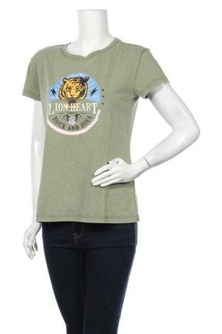 Γυναικείο t-shirt Jdy, Μέγεθος M, Χρώμα Πράσινο, Βαμβάκι, Τιμή 9,38€