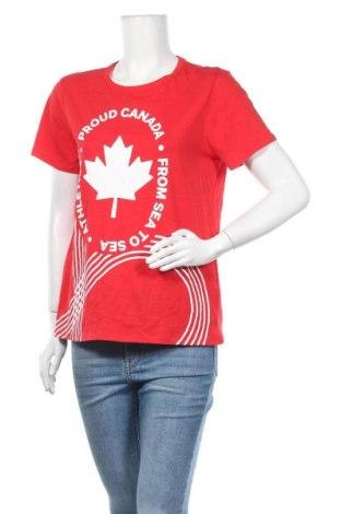 Γυναικείο t-shirt Joe Fresh, Μέγεθος L, Χρώμα Κόκκινο, Βαμβάκι, Τιμή 17,28€