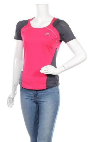 Дамска тениска Kalenji, Размер M, Цвят Розов, 85% полиестер, 15% еластан, Цена 17,01лв.