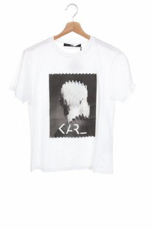 Γυναικείο t-shirt Karl Lagerfeld, Μέγεθος XS, Χρώμα Λευκό, Βαμβάκι, Τιμή 86,17€