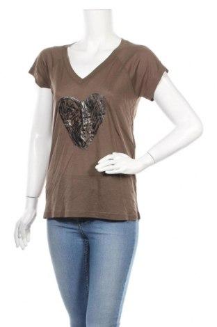 Γυναικείο t-shirt Kookai, Μέγεθος M, Χρώμα Καφέ, 67% lyocell, 33% βαμβάκι, Τιμή 8,77€