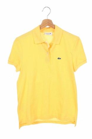 Дамска тениска Lacoste, Размер XS, Цвят Жълт, Памук, Цена 21,84лв.