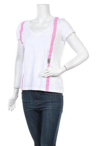 Γυναικείο t-shirt Manguun, Μέγεθος L, Χρώμα Λευκό, Βαμβάκι, Τιμή 16,05€