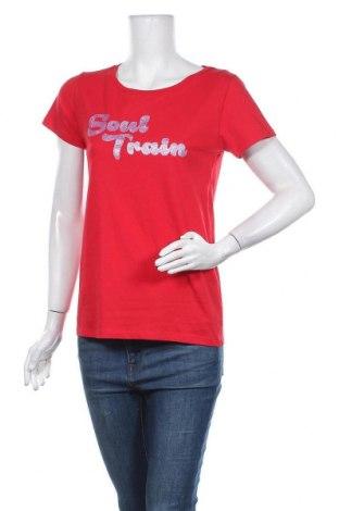 Γυναικείο t-shirt Modstrom, Μέγεθος S, Χρώμα Κόκκινο, Βαμβάκι, Τιμή 17,78€