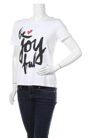 Γυναικείο t-shirt More & More, Μέγεθος M, Χρώμα Λευκό, 48% βαμβάκι, 48% μοντάλ, 4% ελαστάνη, Τιμή 16,24€