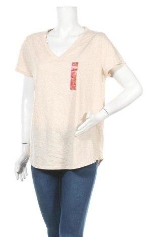 Γυναικείο t-shirt Mossimo, Μέγεθος XXL, Χρώμα  Μπέζ, 60% βαμβάκι, 40% πολυεστέρας, Τιμή 16,05€