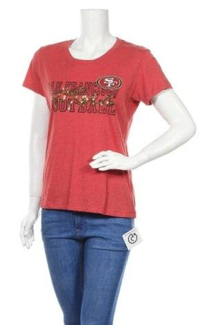 Γυναικείο t-shirt NFL, Μέγεθος L, Χρώμα Κόκκινο, 60% βαμβάκι, 40% πολυεστέρας, Τιμή 11,04€