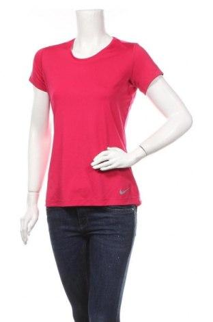 Дамска тениска Nike, Размер L, Цвят Розов, 92% полиестер, 8% еластан, Цена 26,88лв.