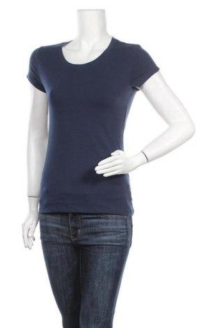 Γυναικείο t-shirt No Boundaries, Μέγεθος M, Χρώμα Μπλέ, 57% βαμβάκι, 38% πολυεστέρας, 5% ελαστάνη, Τιμή 9,25€