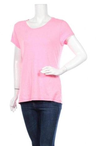 Γυναικείο t-shirt No Boundaries, Μέγεθος XL, Χρώμα Ρόζ , 57% βαμβάκι, 38% πολυεστέρας, 5% ελαστάνη, Τιμή 10,49€