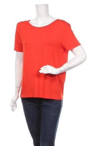 Γυναικείο t-shirt Noisy May, Μέγεθος XL, Χρώμα Κόκκινο, 95% βισκόζη, 5% ελαστάνη, Τιμή 10,44€
