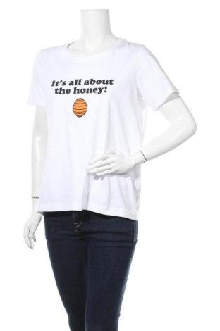 Γυναικείο t-shirt Numph, Μέγεθος L, Χρώμα Λευκό, Βαμβάκι, Τιμή 23,97€