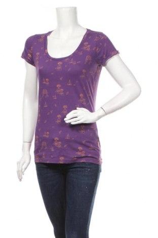 Дамска тениска O.ha, Размер L, Цвят Лилав, Памук, Цена 10,29лв.