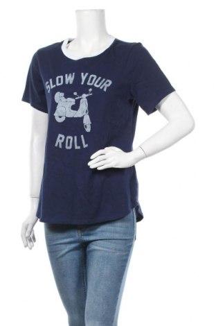 Дамска тениска Old Navy, Размер L, Цвят Син, Памук, Цена 18,90лв.