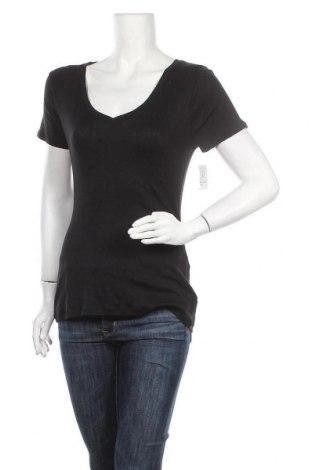 Дамска тениска Old Navy, Размер M, Цвят Черен, 60% памук, 40% модал, Цена 23,10лв.
