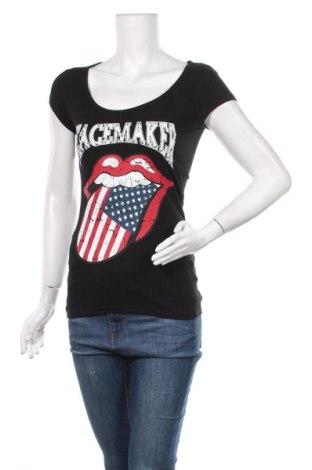 Γυναικείο t-shirt One Love, Μέγεθος S, Χρώμα Μαύρο, 95% βαμβάκι, 5% ελαστάνη, Τιμή 9,94€