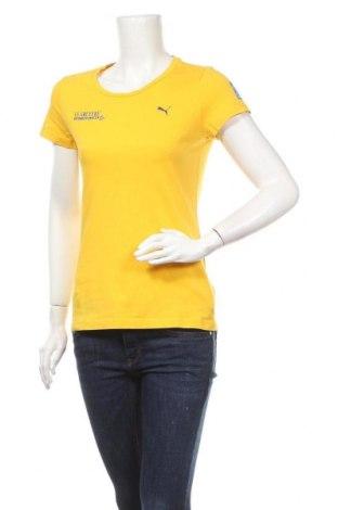 Дамска тениска PUMA, Размер M, Цвят Жълт, Памук, Цена 18,48лв.