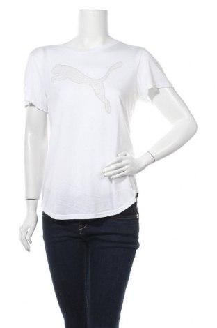 Дамска тениска PUMA, Размер M, Цвят Бял, 65% полиестер, 35% вискоза, Цена 28,32лв.