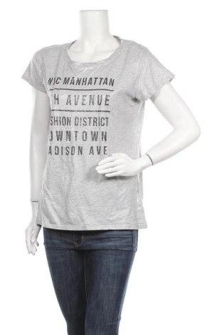 Дамска тениска Page One, Размер XL, Цвят Сив, 95% памук, 5% вискоза, Цена 12,60лв.