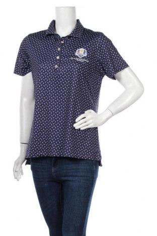 Дамска тениска Peter Millar, Размер L, Цвят Син, Цена 11,76лв.