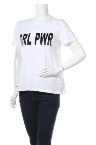 Γυναικείο t-shirt Pieces, Μέγεθος L, Χρώμα Λευκό, Βαμβάκι, Τιμή 11,04€