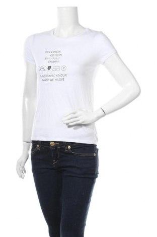 Дамска тениска Pimkie, Размер XS, Цвят Бял, 50% памук, 50% модал, Цена 13,97лв.