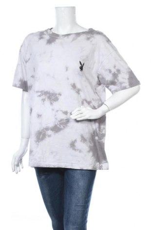 Γυναικείο t-shirt Playboy x Missguided, Μέγεθος M, Χρώμα Γκρί, Βαμβάκι, Τιμή 10,05€