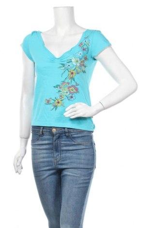 Γυναικείο t-shirt Q/S by S.Oliver, Μέγεθος S, Χρώμα Μπλέ, Τιμή 10,39€