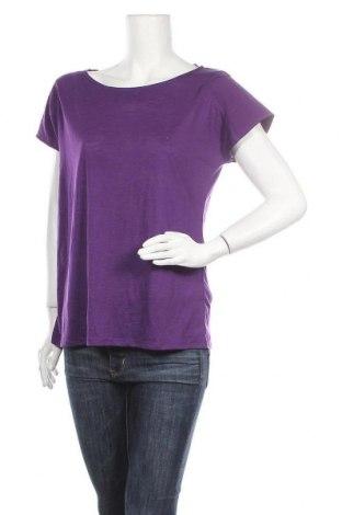 Γυναικείο t-shirt Route 66, Μέγεθος L, Χρώμα Βιολετί, 70% πολυεστέρας, 30% βισκόζη, Τιμή 10,39€