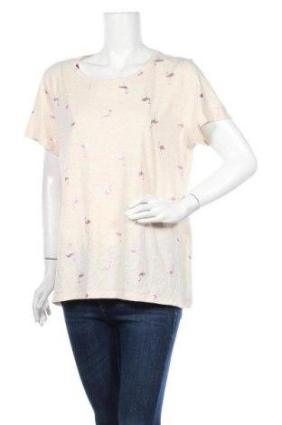 Γυναικείο t-shirt Sonoma, Μέγεθος XXL, Χρώμα  Μπέζ, 60% βαμβάκι, 40% πολυεστέρας, Τιμή 11,69€
