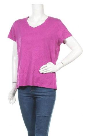Γυναικείο t-shirt St. John's Bay, Μέγεθος XL, Χρώμα Βιολετί, Βαμβάκι, Τιμή 4,38€