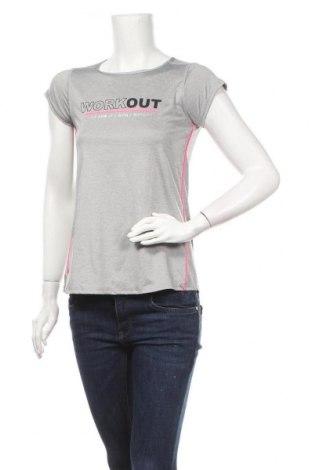 Γυναικείο t-shirt Tex, Μέγεθος S, Χρώμα Γκρί, 85% πολυεστέρας, 15% ελαστάνη, Τιμή 8,31€