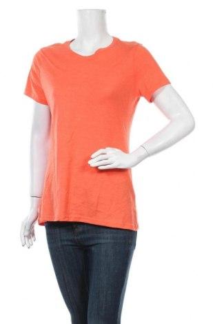 Γυναικείο t-shirt Time and tru, Μέγεθος M, Χρώμα Πορτοκαλί, 60% βαμβάκι, 40% πολυεστέρας, Τιμή 9,94€