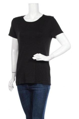 Γυναικείο t-shirt Time and tru, Μέγεθος L, Χρώμα Μαύρο, 58% βαμβάκι, 39% μοντάλ, 3% ελαστάνη, Τιμή 9,87€