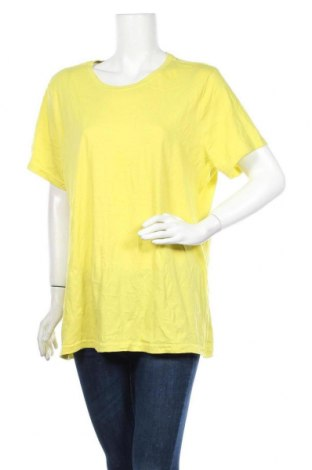 Γυναικείο t-shirt Time and tru, Μέγεθος 3XL, Χρώμα Κίτρινο, 60% βαμβάκι, 40% πολυεστέρας, Τιμή 11,11€