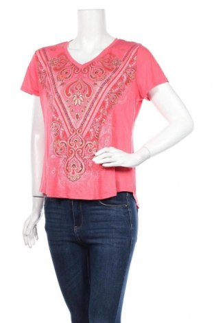 Γυναικείο t-shirt Time and tru, Μέγεθος L, Χρώμα Ρόζ , 70% πολυεστέρας, 30% βισκόζη, Τιμή 11,69€