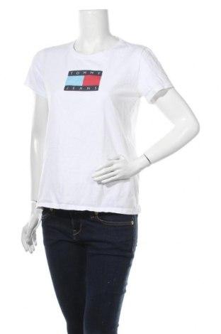 Дамска тениска Tommy Hilfiger, Размер M, Цвят Бял, Памук, Цена 41,34лв.