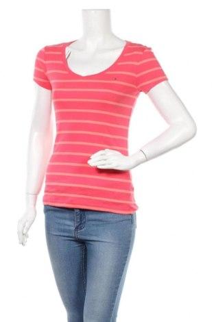 Γυναικείο t-shirt Tommy Hilfiger, Μέγεθος S, Χρώμα Ρόζ , Βαμβάκι, Τιμή 17,28€