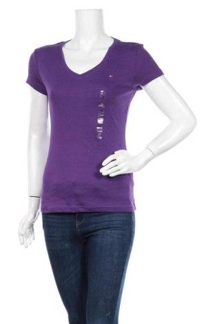 Γυναικείο t-shirt Tommy Hilfiger, Μέγεθος M, Χρώμα Βιολετί, 100% βαμβάκι, Τιμή 48,74€